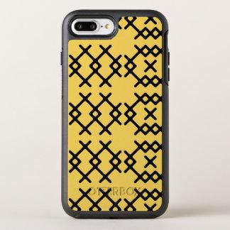 Formas geométricas do nómada tribal do amarelo da capa para iPhone 7 plus OtterBox symmetry