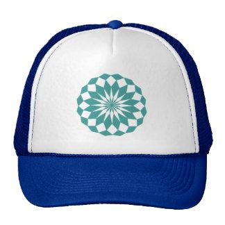 Formas na turquesa da cerceta, chapéus do diamante boné