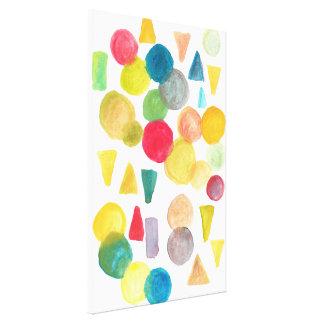 formas pintados à mão impressão em tela