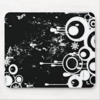 Formigas & negativo do círculo - preto & o branco mousepad