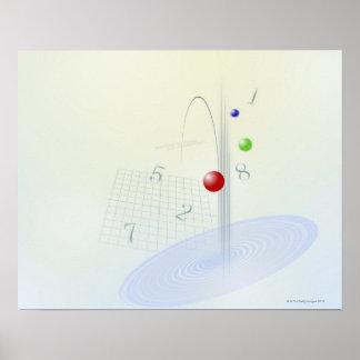 Fórmula, gráfico, símbolos 10 da matemática posters