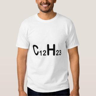 Fórmula química diesel t-shirts