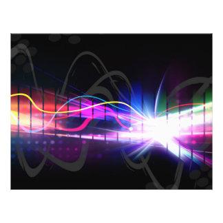 Formulário de onda musical do arco-íris panfletos personalizados