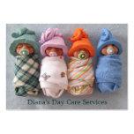 Fornecedor do centro de dia: Foto de bebês da Cartão De Visita Grande