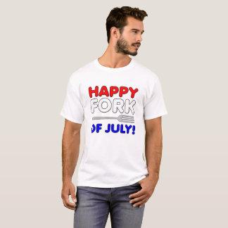 Forquilha da camiseta engraçada de julho