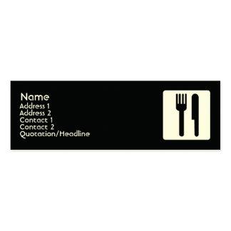 Forquilha e faca - magros cartão de visita skinny
