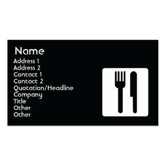 Forquilha e faca - negócio cartão de visita