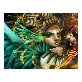 forrest-duende-verde-menina-anjo-carnaval cartão postal