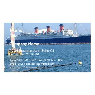 Forro de oceano de Queen Mary do barco do navio Cartões De Visitas