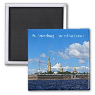 Fortaleza de St Petersburg, de Peter e de Paul Ímã Quadrado