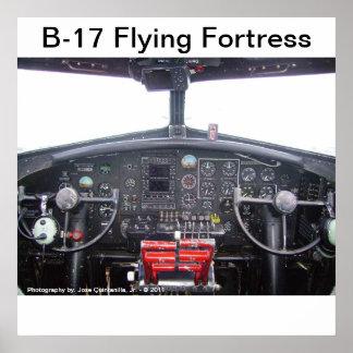Fortaleza do vôo B-17 - poster Pôster