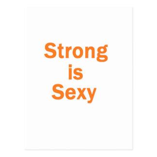 Forte é a laranja sexy cartões postais
