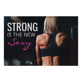 """Forte é o exercício   inspirador """"sexy"""" novo da pôster"""