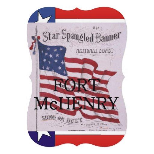 Forte McHenry de ABH Convite Personalizados