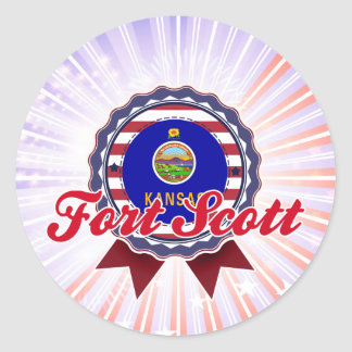 Forte Scott, KS Adesivo Em Formato Redondo