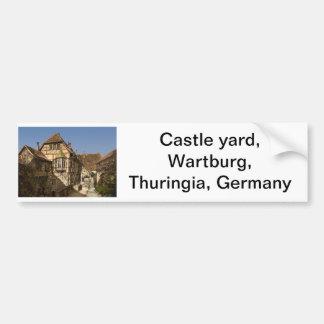 Fortifique a jarda, Wartburg, Thuringia, Alemanha Adesivo Para Carro