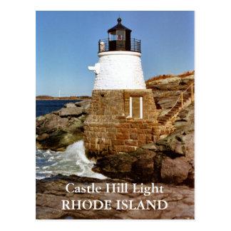 Fortifique o farol do monte, Rhode - cartão da