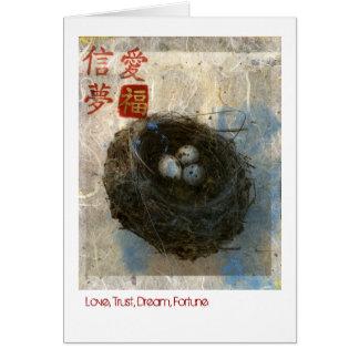 Fortuna do sonho da confiança do amor cartão comemorativo