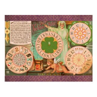 Fortuna do vintage que diz o cartão de jogo