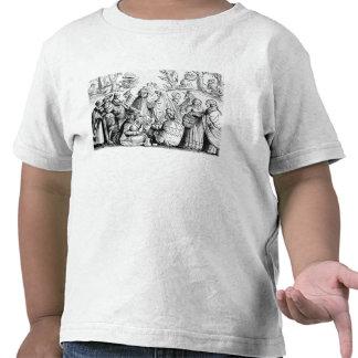 Fortuna dos ciganos que diz, após um woodcut 'em t-shirts