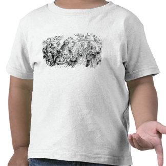 Fortuna dos ciganos que diz, após um woodcut 'em t-shirt