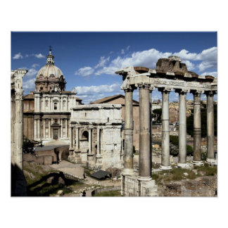 Fórum romano, Roma, Italia Pôster