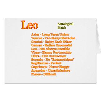 Fósforo astrológico de Leo os presentes de Zazzle Cartão Comemorativo