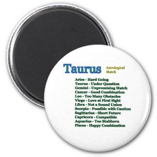 Fósforo astrológico do Taurus os presentes de Ímã Redondo 5.08cm