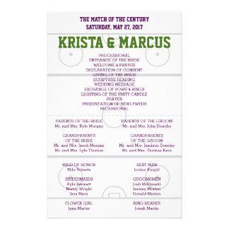 Fósforo do programa do casamento do século flyer