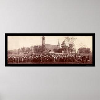 Foto 1903 dos estudantes universitários dos topete impressão