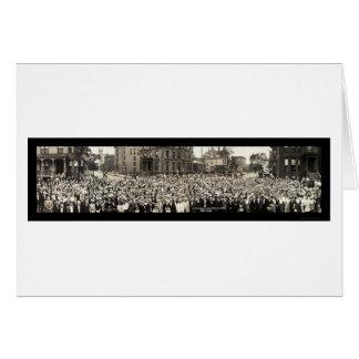 Foto 1914 de Chicago da catequese Cartão Comemorativo