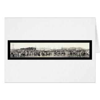 Foto 1926 de Veneza da representação histórica de  Cartões