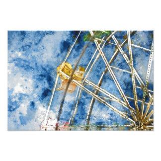 Foto A aguarela Ferris roda dentro Santa Cruz