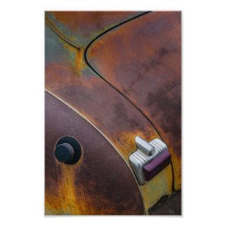 Foto A beleza da textura de um carro vintage