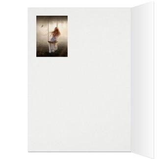 foto a Boémia romântica baloiço jovem rapariga Cartão Comemorativo