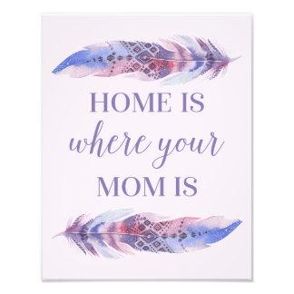 Foto A casa é o lugar onde sua mamã é |