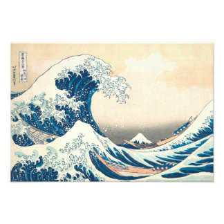 Foto A grande onda fora de Kanagawa