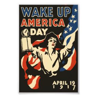 Foto Acorde o poster da bandeira americana do dia 1917
