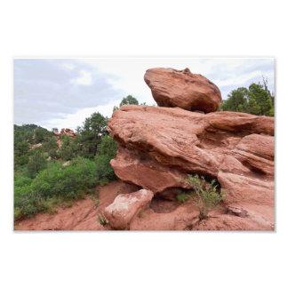 Foto Afloramento de rocha no jardim dos deuses