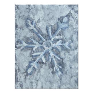 Foto Aguarela do floco de neve do inverno