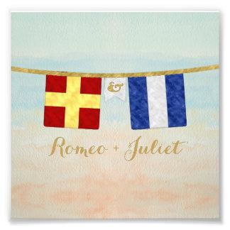 Foto Aguarela marítima das bandeiras de sinal do