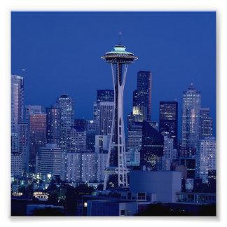 Foto Agulha do centro maravilhosa do espaço de Seattle