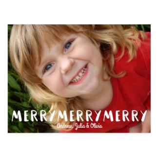 Foto alegre do feriado do Feliz Natal do Cartão Postal
