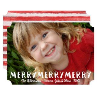 Foto alegre do feriado do Feliz Natal do Convite 12.7 X 17.78cm