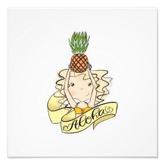 Foto Aloha menina com abacaxi
