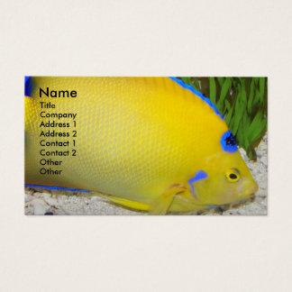 Foto amarela do Angelfish Cartão De Visitas