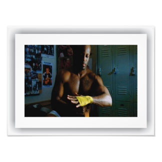 Foto Americana - pugilista, impressão do cetim