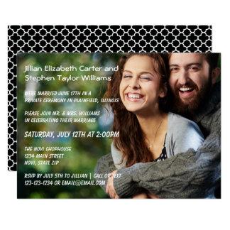 Foto - anúncio do casamento convite 12.7 x 17.78cm