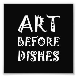 Foto Arte antes dos pratos