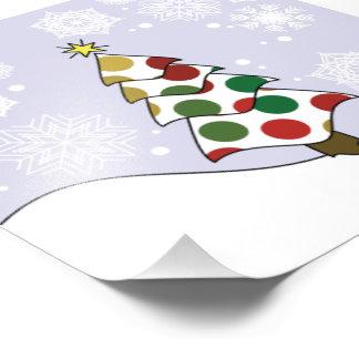 Foto Arte da árvore de Natal de Polkadot